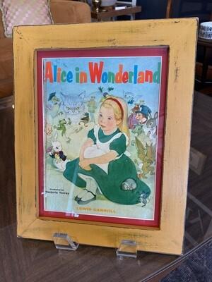 1955 Alice in Wonderland Framed & Matted Book Cover