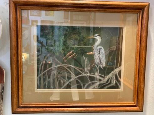 Framed & Matted Original Tropical Bird Wall Art
