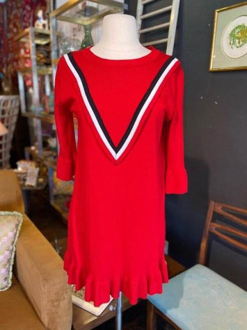 Vintage Inspired Red Knit Dress