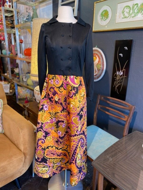 Vintage 1960's Quilted Skirt Maxi