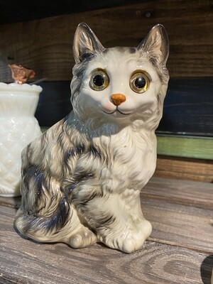 Vintage Ceramic Cat Planter