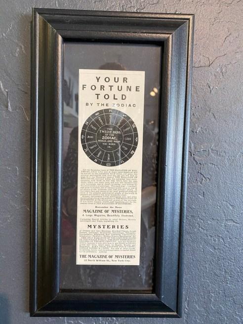 1901 Magazines of Mysteries, Vintage Framed Ad