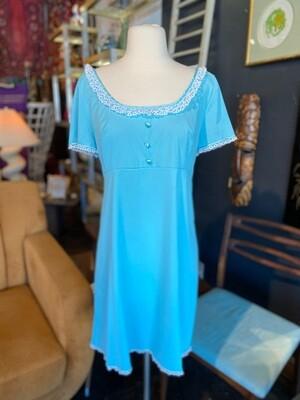 Vintage Aqua Slip Dress