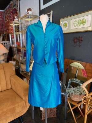 Vintage 1960's Handmade Silk Suit