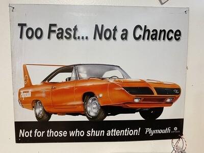 Vintage Plymouth Superbird Tin Sign