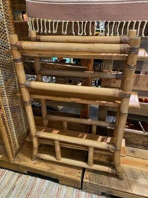 Mid Century Modern Rattan Plant Stand