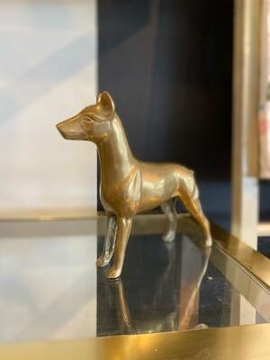 Vintage Solid Brass Doberman
