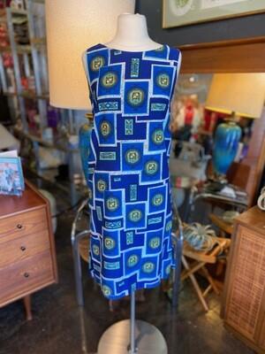 Vintage 1960's Mahatani Hawaii Shift Dress