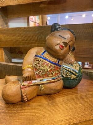 Vintage Hand Carved Sleeping Beauty
