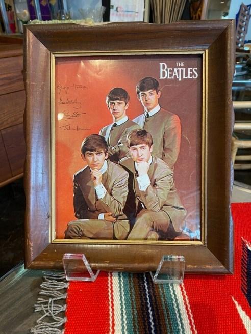 Vintage 1960's Framed Beatles