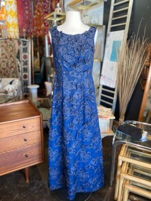 Vintage 1950's M Fernandez Appliqué Gown with Scarf/Wrap