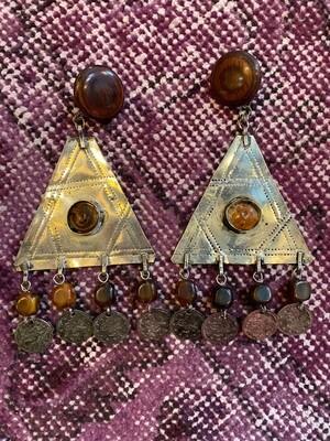 Vintage Boho Coin Earrings
