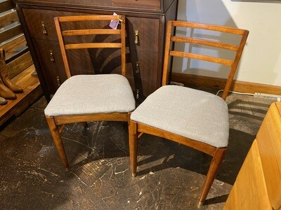Mid Century Modern Walnut Chairs