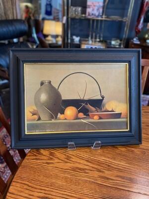 Vintage Framed Print Signed Robert Douglas Hunter