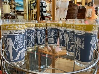 Vintage Set of Egyptian Highball Glasses
