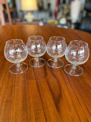 Vintage Set of Handblown Brandy Glasses