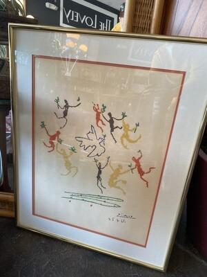 Vintage Picasso Lithograph Print - La Ronde De Ja Jeunesse Dance of the Youth