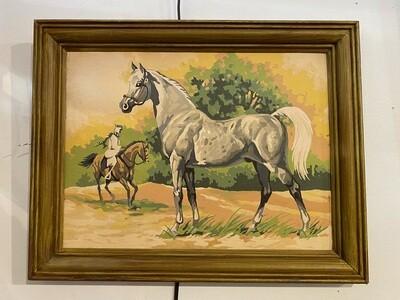 Vintage 1970's Arabian Horse Paint by Numbers