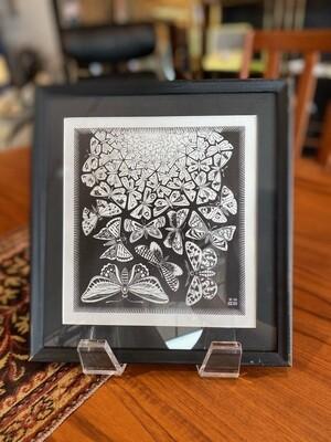 Framed Escher Butterflies