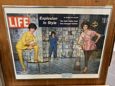 Vintage 1961 Life Magazine Framed Spread - Explosion in Style