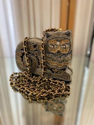 Vintage Handmade Cat Box Purse