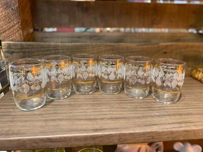 Vintage Bartlett Small Juice Glasses