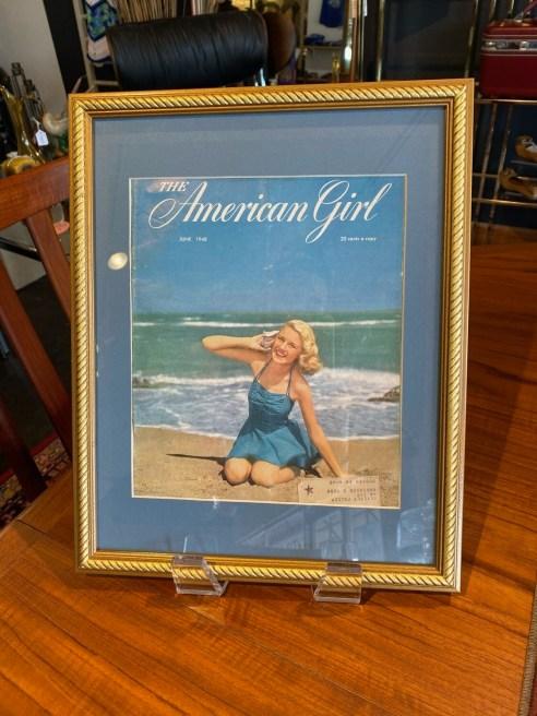 Vintage Framed 1948 The American Girl Cover
