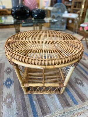 Vintage Pencil Rattan Table/Stand