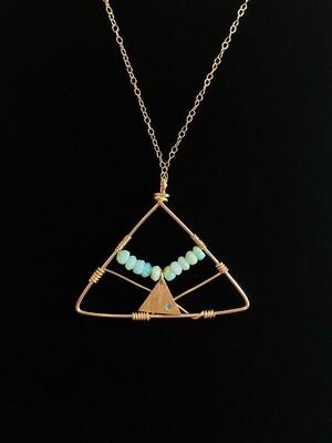 Handmade Gold Filled Gold Plated Peruvian Opal