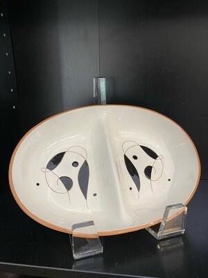 Mid Century Modern Stangl Pottery Split Dish
