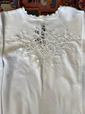 Vintage Nance Laine with Open Appliqué Sweatshirt