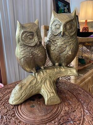 Vintage Brass Owls
