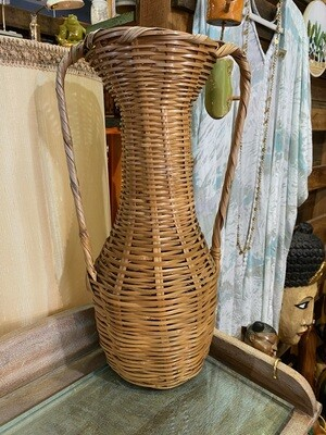 Vintage Weaved Vase