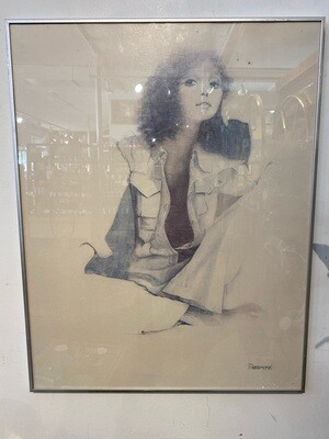 Vintage 1970's Christine Rosamond Framed Art
