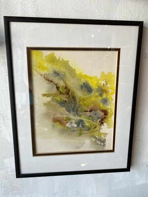 Vintage Framed & Matted Norma Winston Watercolor