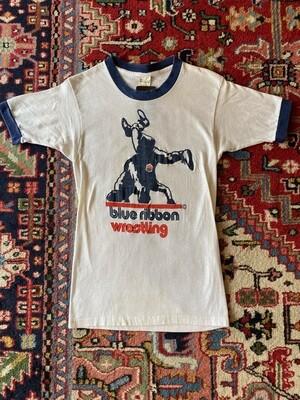 Vintage Blue Ribbon Wresting T-Shirt