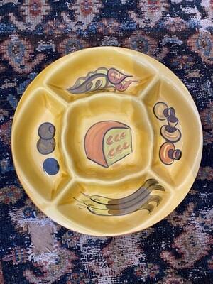 Vintage 1970's LA Pottery Snack Server