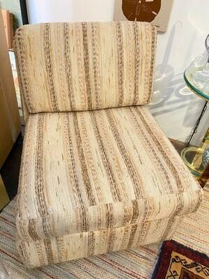 Mid Century 1970's Chair & Ottoman