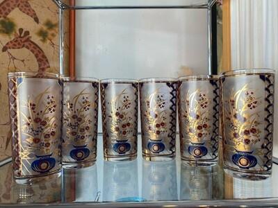 Vintage Set of Culver Asian Highball Glasses