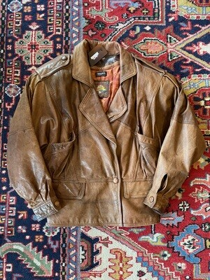 Vintage Adventure Bound Leather Jacket