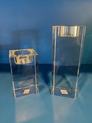 Vintage Set of Glass Tea Candles Sticks