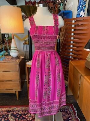 Modern Pink Boho Bandeau Dress