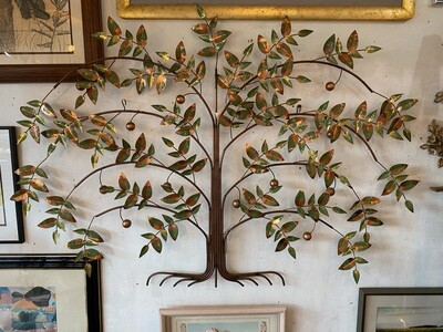 Mid Century Modern 1977 Curtis Jere Arts Tree of Life Wall Sculpture