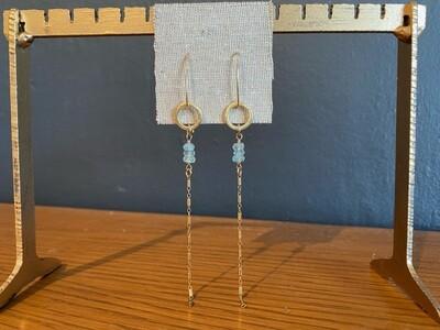 Handmade Aqua Marine 14kt Gold Filled Earrings
