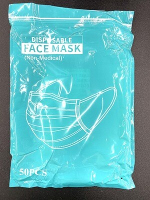 50 Piece Disposable Mask Pack