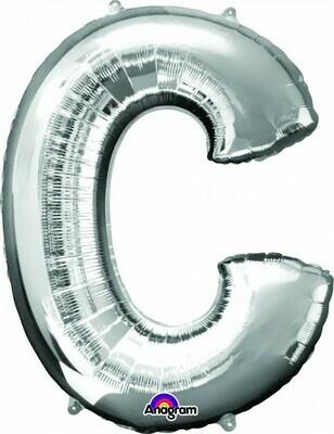 Super Shape Letter C Silver 34