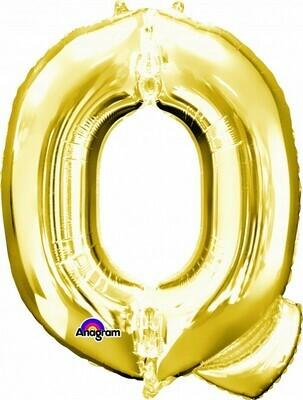 Super Shape Letter Q Gold 34