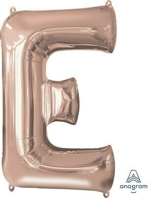 Super Shape Letter E Rose Gold 34