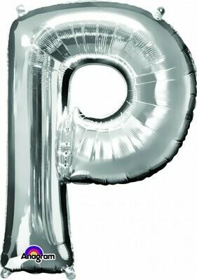 Super Shape Letter P Silver 34