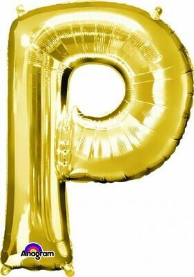Super Shape Letter P Gold 34